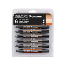 Winsor & Newton ProMarkers Set of 6 Skin Tones - Set 2