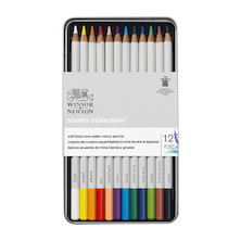 Winsor & Newton Studio Collection Watercolour Pencils Assorted Tin of 12