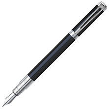 Waterman Perspective Fountain Pen Black Lacquer with Chrome Trim