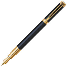 Waterman Perspective Fountain Pen Black Lacquer with Gold Trim
