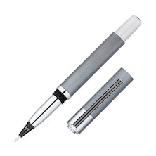 Yookers Metis Refillable Fibre Tip Pen Grey with Chrome Trim 1.0mm