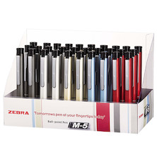 Zebra M-5 Ballpen 0.7 Assorted Display of 30