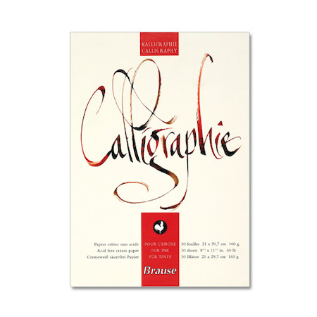 Brause Calligraphy Pad A4 Cult Pens