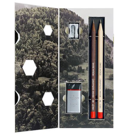 Caran d'Ache Swiss Wood 348 Pencil Gift Set