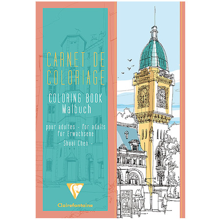 Clairefontaine Advanced Colouring Book A4 Towns