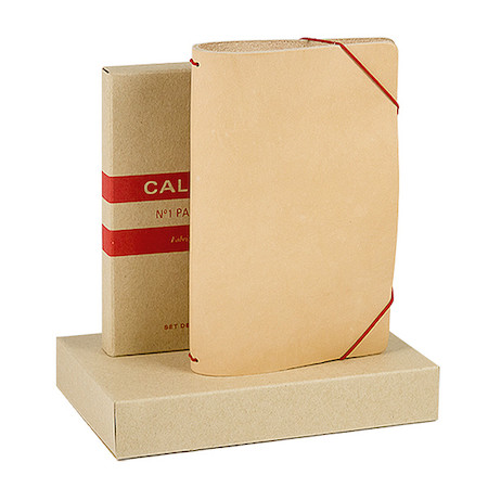 Calepino Portfolio Leather Notebook Cover No.1 Ruled