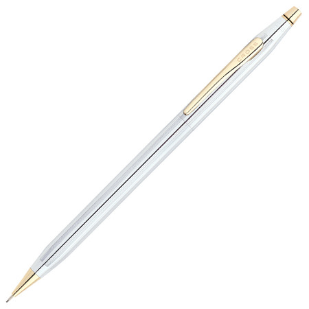 Cross Classic Century Mechanical Pencil Medalist Chrome with Gold Trim