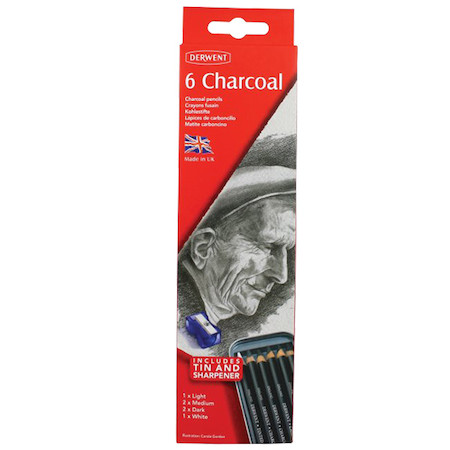 Derwent Charcoal Pencil Tin of 6