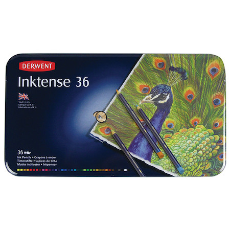 Derwent Inktense Coloured Pencils Tin of 36