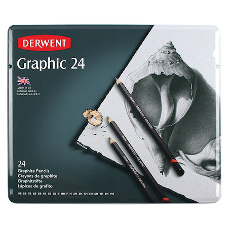 Derwent Graphic Graphite Pencil Tin of 24