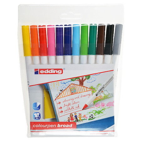 edding Colourpen Broad Wallet of 12