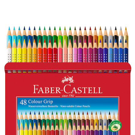 faber castell colour grip pencils box of 48 cult pens. Black Bedroom Furniture Sets. Home Design Ideas