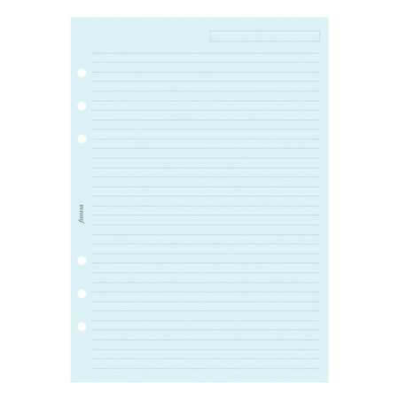 Filofax Notepaper Ruled Blue