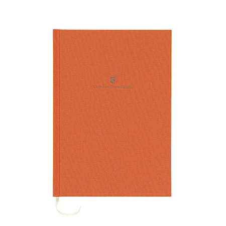Graf von Faber-Castell Colours Linen Bound Notebook A5 Burnt Orange