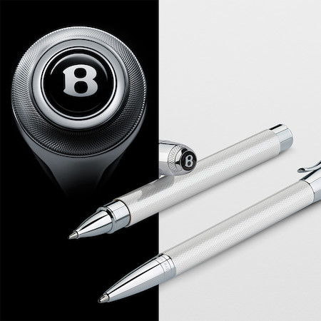 Graf von Faber-Castell For Bentley Ballpoint Pen White Satin