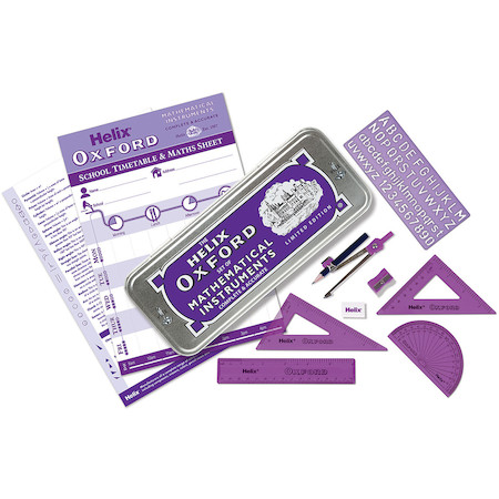 Helix Oxford Colours Maths Set Purple