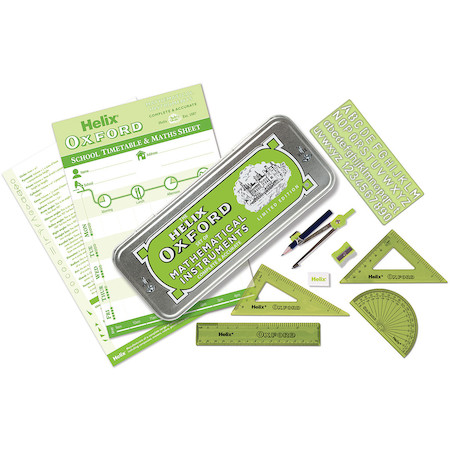 Helix Oxford Colours Maths Set Green