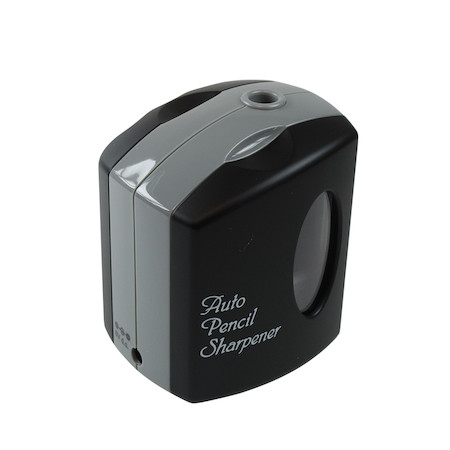 Jakar Battery Operated Pencil Sharpener Single Hole - Black/Grey