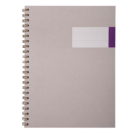 G Lalo Velin Pur Coton Wirebound Notebook A4