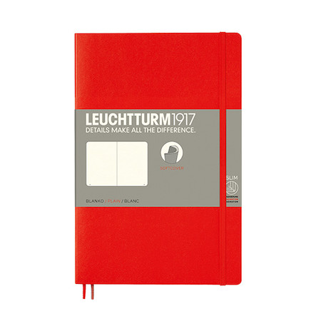Leuchtturm1917 Softcover Notebook B6+ Red