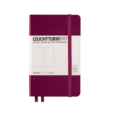 Leuchtturm1917 Hardcover Notebook Pocket Port Red