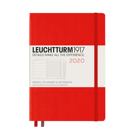 Leuchtturm1917 Diary Weekly Planner and Notebook 2020 Medium Red