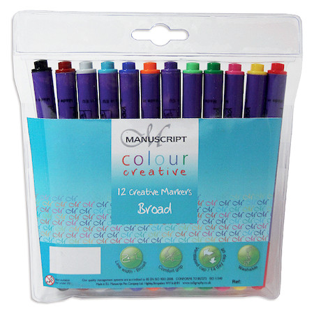 Manuscript Colour Creative Markers Wallet of 12