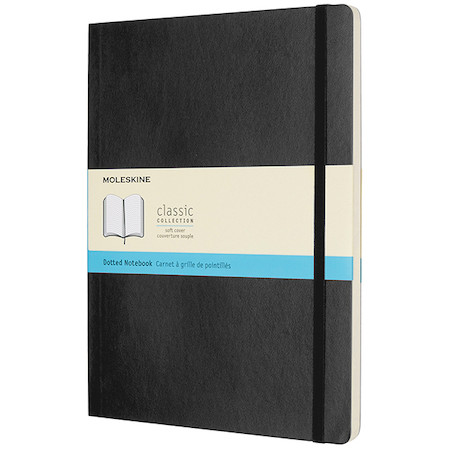 Moleskine Soft Cover Extra Large Notebook 190x250 Black