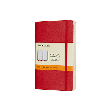 Moleskine Soft Cover Pocket Notebook 90x140 Red