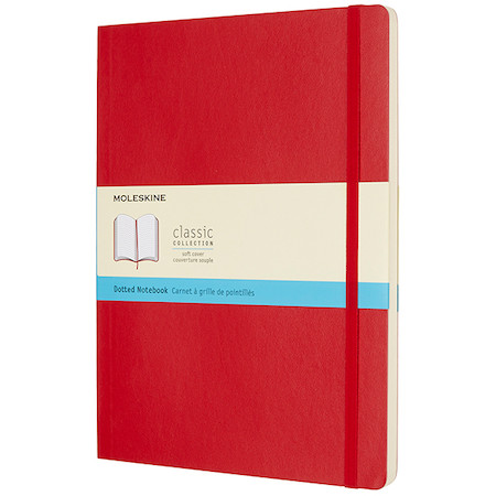 Moleskine Soft Cover Extra Large Notebook 190x250 Red