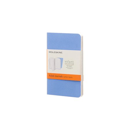 Moleskine Volant Journal Extra Small Set of 2 Powder Blue/Royal Blue