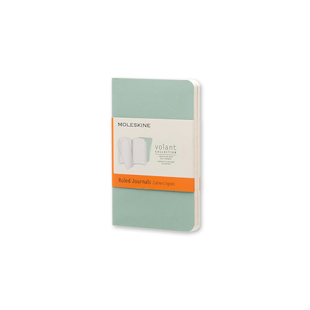 Moleskine Volant Journal Extra Small Set of 2 Sage Green/Seaweed Green