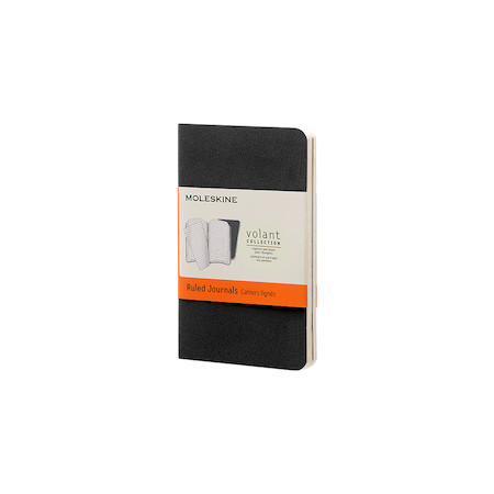 Moleskine Volant Journal Extra Small Set of 2 Black