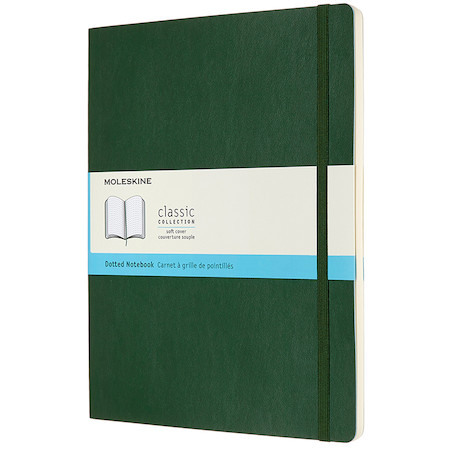 Moleskine Soft Cover Extra Large Notebook 190x250 Myrtle Green