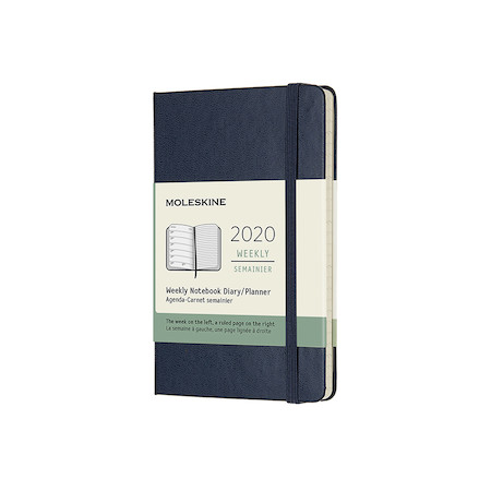 Moleskine Weekly Notebook Planner 2020 Hardcover Pocket Sapphire Blue