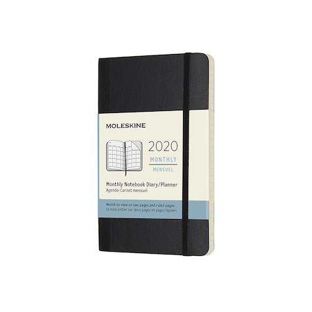 Moleskine Monthly Diary 2020 Softcover Pocket Black