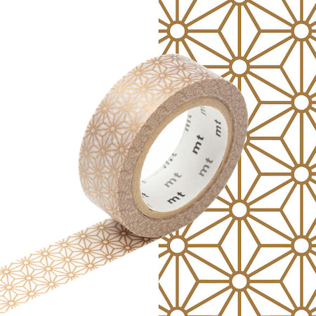 mt Washi Masking Tape - 15mm x 10m - Asanoha Sinchu