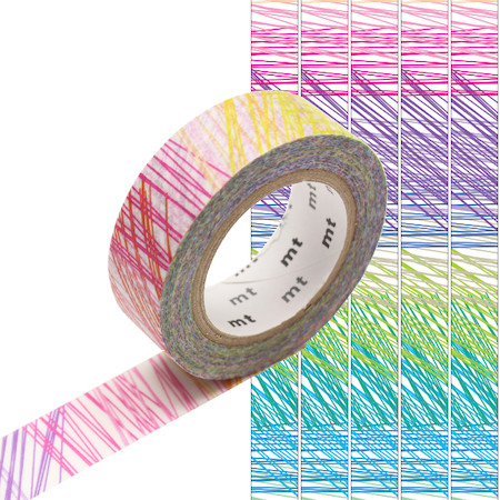 mt Washi Masking Tape 15mm x 10m Scribble
