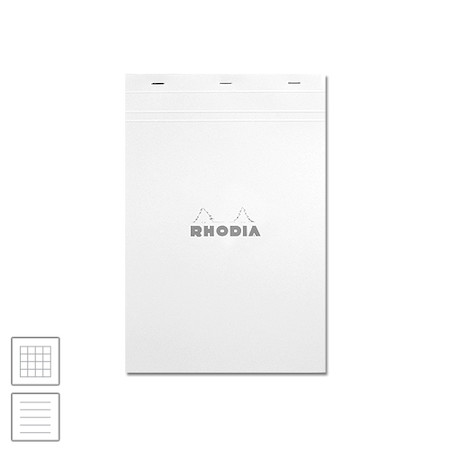 Rhodia Ice White Head-Stapled Notepad No.18 A4 (210 x 297)