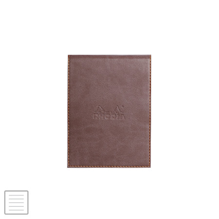 Rhodia Rhodiarama Leatherette Refillable Notepad No.12 (95 x 130) Chocolate