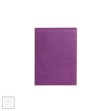 Rhodia Rhodiarama Leatherette Refillable Notepad No.12 (95 x 130) Purple