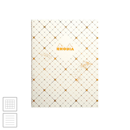 Rhodia Heritage Sewn Spine Notebook Quadrille 190x250