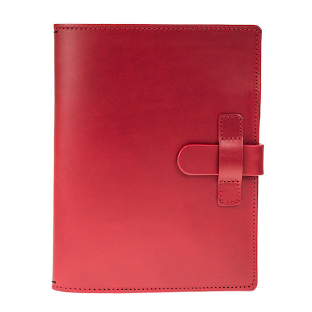 Cult Pens Ruitertassen Leather Notebook Cover A5 Red
