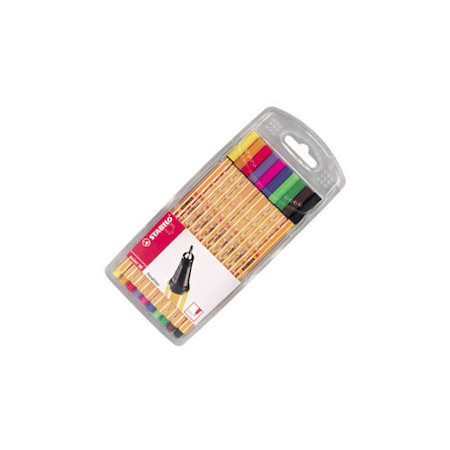 STABILO point 88 Fineliner Pen Assorted Wallet of 10