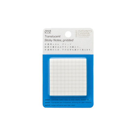 Stalogy Sticky Notes Translucent Squared