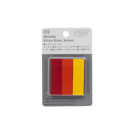Stalogy Sticky Tabs Red, Orange & Yellow