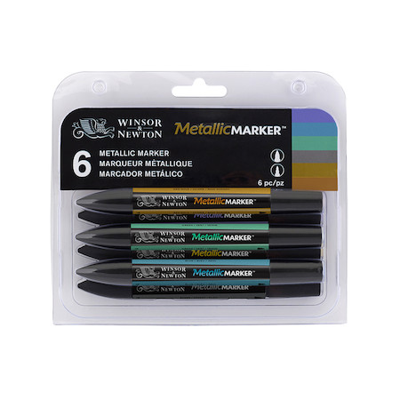 Winsor & Newton Markers Set of 6 Metallic