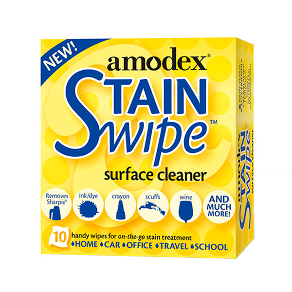 Amodex Ink and Stain Remover Wipes Pack of 10