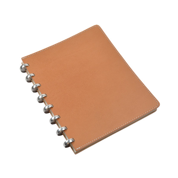 Atoma Pur Disc-Bound Refillable A5+ Notebook Natural Leather