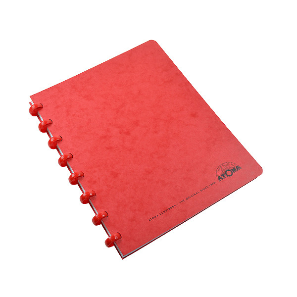 Atoma Classic Colours Card Cover Disc-Bound Refillable Notebook A5+